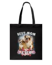 Bulldog Best Mom Tote Bag thumbnail