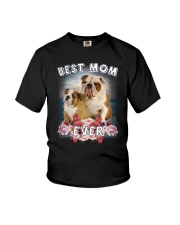 Bulldog Best Mom Youth T-Shirt thumbnail