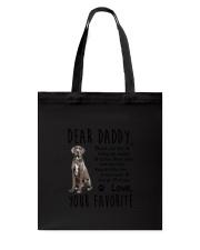 Daddy Great Dane Tote Bag thumbnail