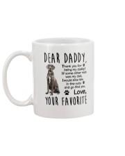 Daddy Great Dane Mug back