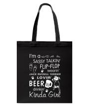 Jack Russell Terrier Sassy Talking Tote Bag thumbnail