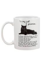 Black Cat Family Mug back