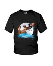 Dachshund Santa Phoebe 018 Youth T-Shirt thumbnail