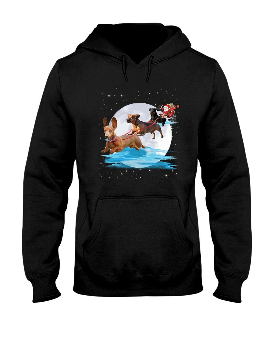 Dachshund Santa Phoebe 018 Hooded Sweatshirt