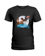 Dachshund Santa Phoebe 018 Ladies T-Shirt thumbnail