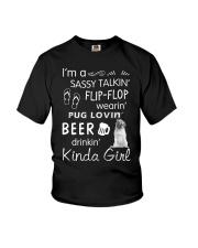 Pug Sassy Talking Youth T-Shirt thumbnail
