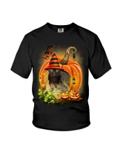 Black Cat Trick Or Treat Youth T-Shirt thumbnail