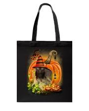 Black Cat Trick Or Treat Tote Bag thumbnail