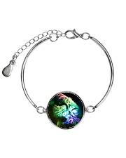 Owl Fractal Metallic Circle Bracelet thumbnail
