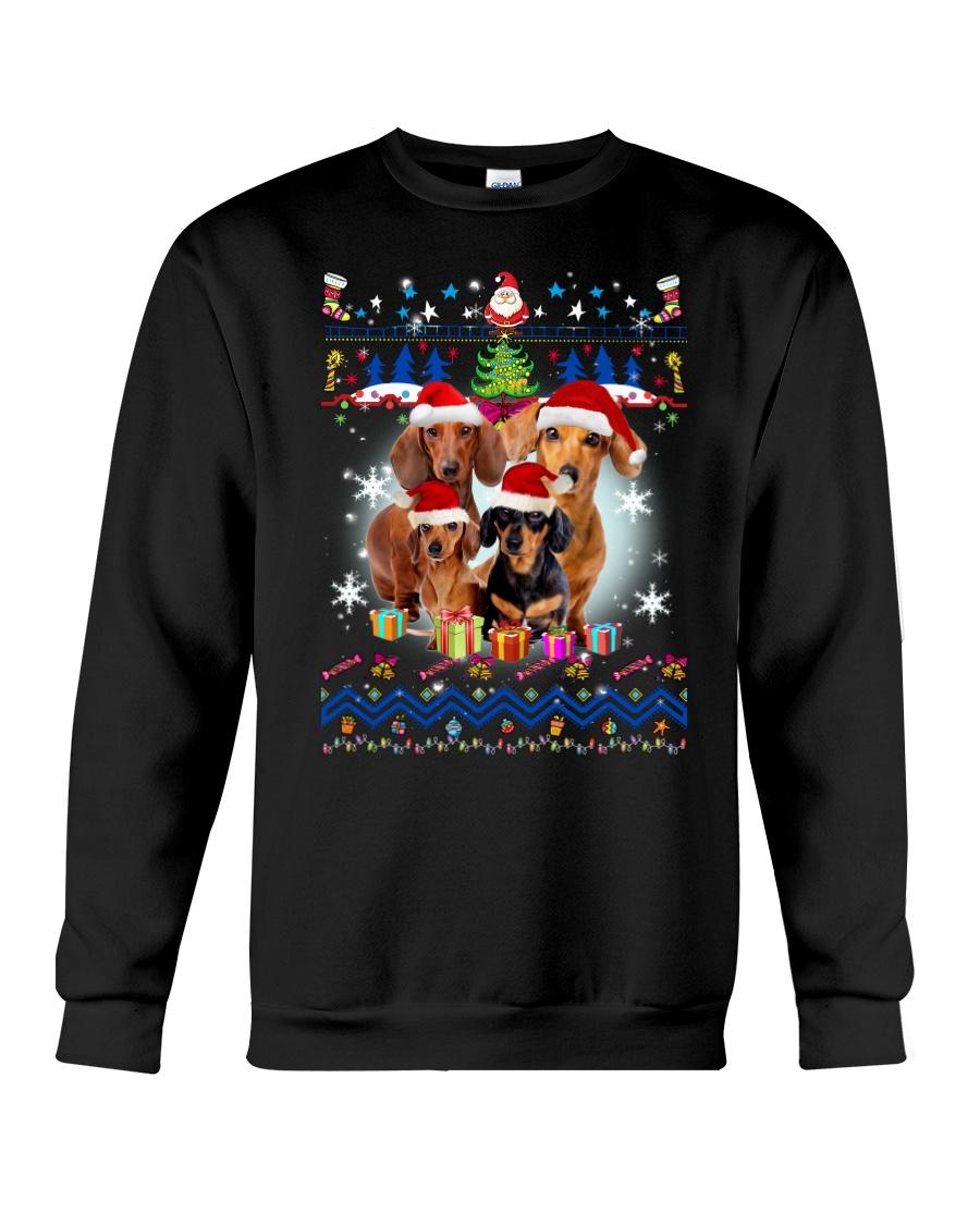 Dachshund Family Xmas Phoebe 018 Crewneck Sweatshirt