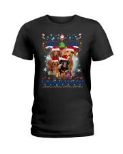 Dachshund Family Xmas Phoebe 018 Ladies T-Shirt thumbnail