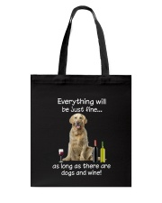 Golden Retriever And Wine Tote Bag thumbnail