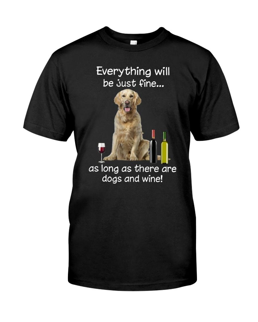 Golden Retriever And Wine Classic T-Shirt