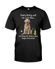 Golden Retriever And Wine Classic T-Shirt front