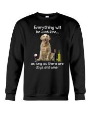 Golden Retriever And Wine Crewneck Sweatshirt thumbnail