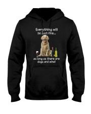Golden Retriever And Wine Hooded Sweatshirt thumbnail