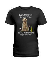 Golden Retriever And Wine Ladies T-Shirt thumbnail