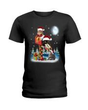 Cat Christmas Mailbox Ladies T-Shirt thumbnail