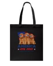 4th July Poodle Tote Bag thumbnail