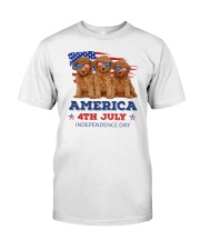 4th July Poodle Classic T-Shirt front