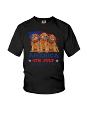 4th July Poodle Youth T-Shirt thumbnail