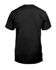 Black Cat Flower Classic T-Shirt back