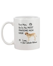 Pawsome Mom Labrador Retriever Mug back
