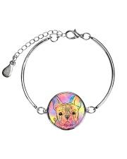 French Bulldog Color Summer Metallic Circle Bracelet thumbnail
