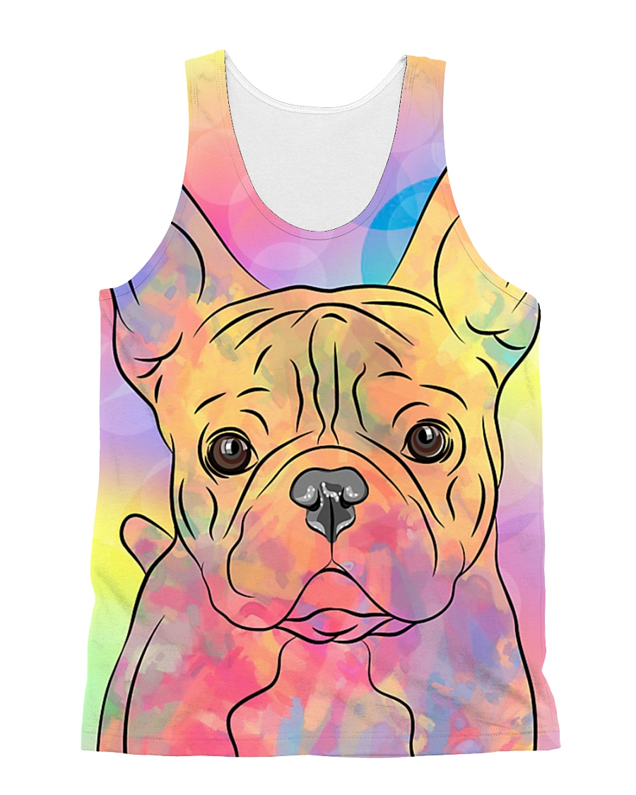 French Bulldog Color Summer All-over Unisex Tank