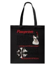 Pawprints French Bulldog Tote Bag thumbnail