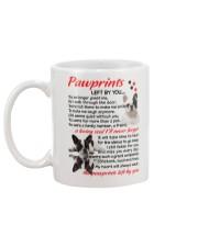 Pawprints French Bulldog Mug back