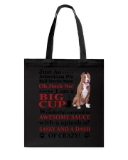 American Pit Bull Terrier Crazy Funny Tote Bag thumbnail
