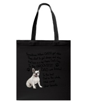 Grooviest Dad French Bulldog Tote Bag thumbnail
