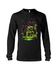 Black Cat Flower Long Sleeve Tee thumbnail