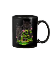 Black Cat Flower Mug thumbnail