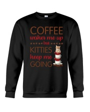 Cat Coffee Crewneck Sweatshirt thumbnail
