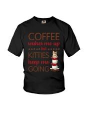 Cat Coffee Youth T-Shirt thumbnail