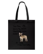 Pawsome Mom French Bulldog Tote Bag thumbnail