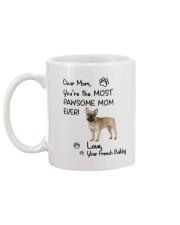 Pawsome Mom French Bulldog Mug back