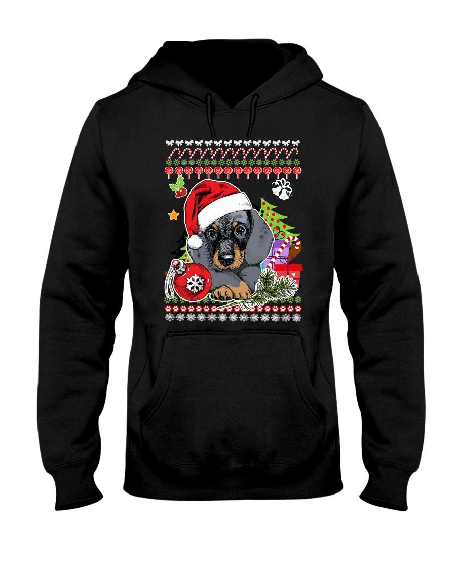 Dachshund Christmas Phoebe 018 Hooded Sweatshirt