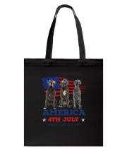 4th July Great Dane Tote Bag thumbnail