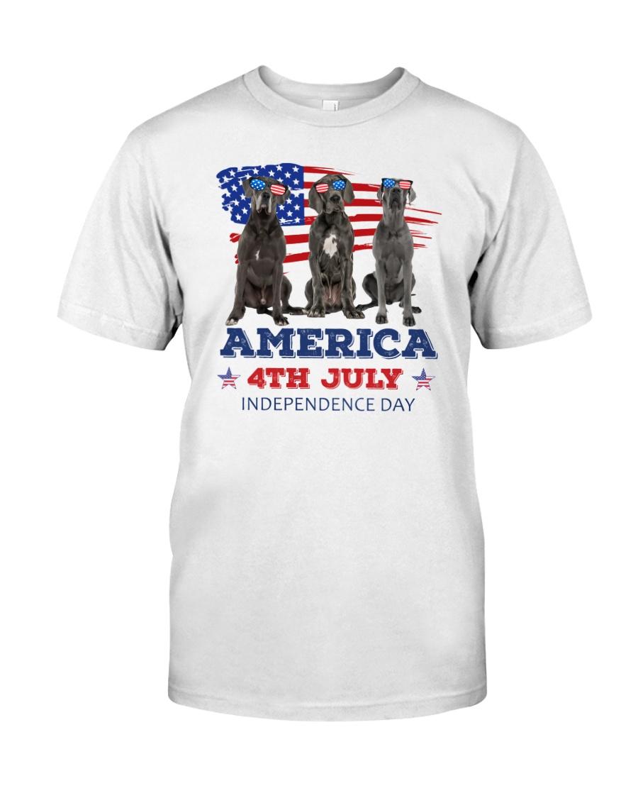 4th July Great Dane Classic T-Shirt