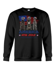 4th July Great Dane Crewneck Sweatshirt thumbnail