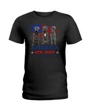 4th July Great Dane Ladies T-Shirt thumbnail