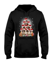 PHOEBE - Bulldog in party hat  - 0911 - E14 Hooded Sweatshirt front
