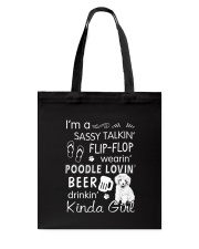 Poodle Sassy Talking Tote Bag thumbnail