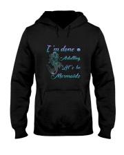 Mermaid Adult Hooded Sweatshirt thumbnail