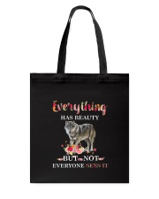 Everythings Beauty Wolf Tote Bag thumbnail