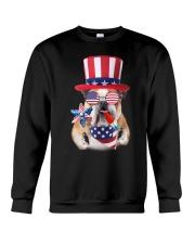 Independence Day Bulldog Crewneck Sweatshirt thumbnail