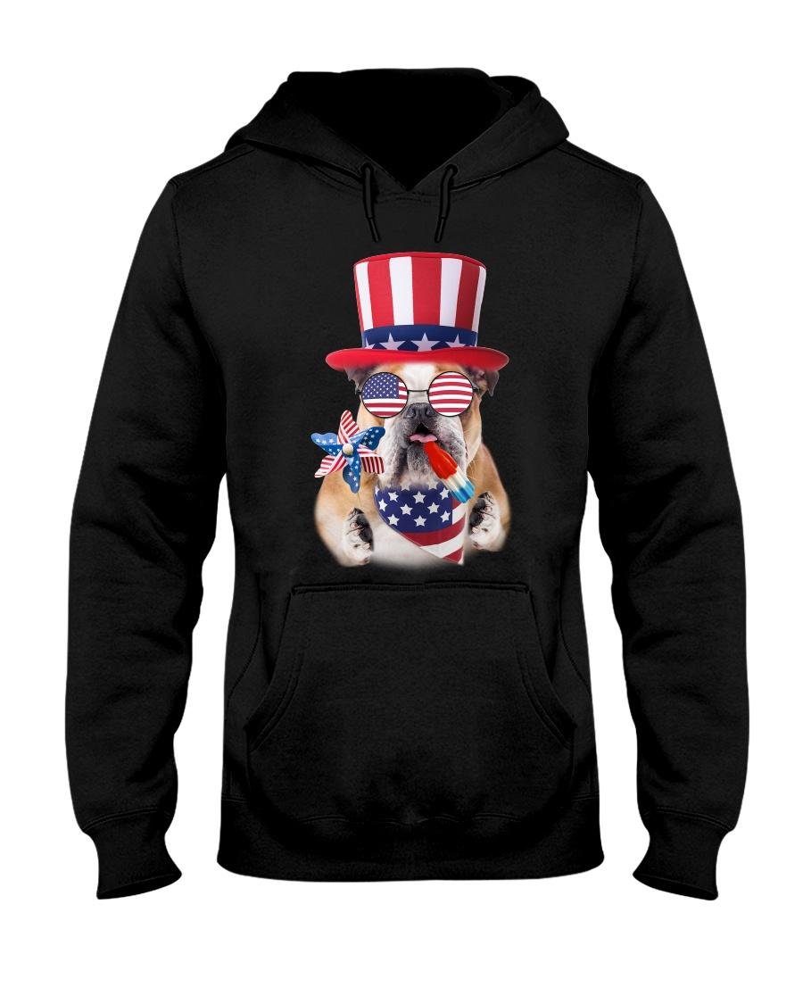 Independence Day Bulldog Hooded Sweatshirt showcase